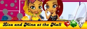 Lisa and Mina at the Mall