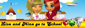 Lisa and Mina Go to School