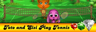 Toto and Sisi Play Tennis
