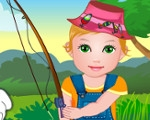 Baby Juliet Fishing