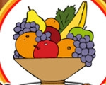 Coloring Book: Fruits