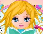 Baby Barbie Frozen Hair Salon