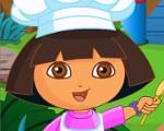 Dora Cooking Cake