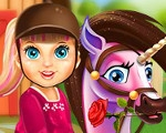 Baby Barbie Pony Caring