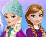 Elsa and Anna Winter Fun
